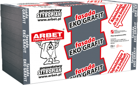 Arbet Styropian FASADA EKO GRAFIT 0,033 29m