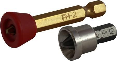 """KOŃCÓWKA BIT 1/4"""" PHILLIPS PH OGRANICZNIK METALOWY (10SZT)  STALCO  S-13192"""